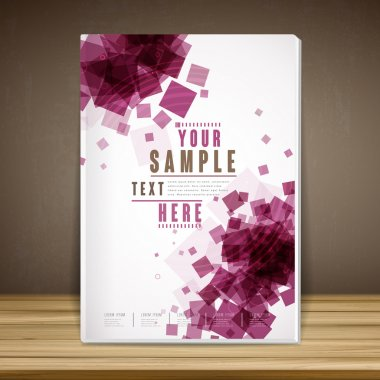 trendy book cover template design