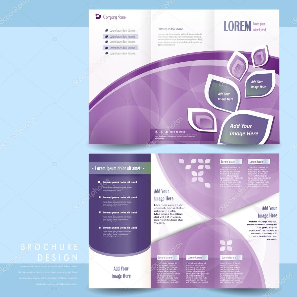 Elegant Tri Fold Template Design Stock Vector C Kchungtw 77060381
