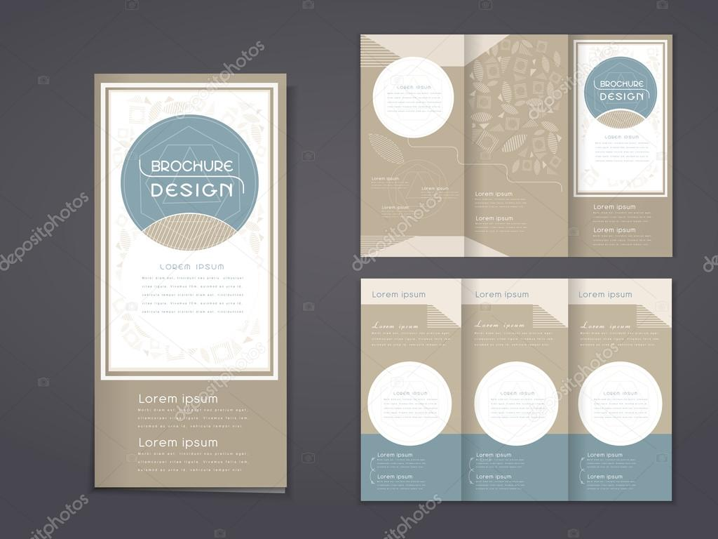 Elegant Tri Fold Template Design Stock Vector C Kchungtw 77062559