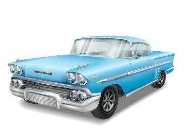 veteran classic blue car