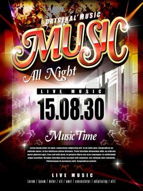 modern music festival poster design template