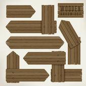 Photo wooden plate arrows set