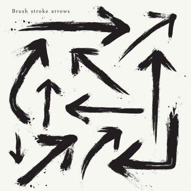 creative brush stroke arrows set