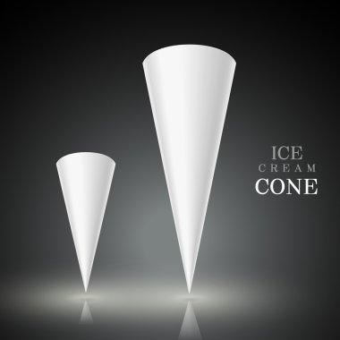 blank ice cream cone