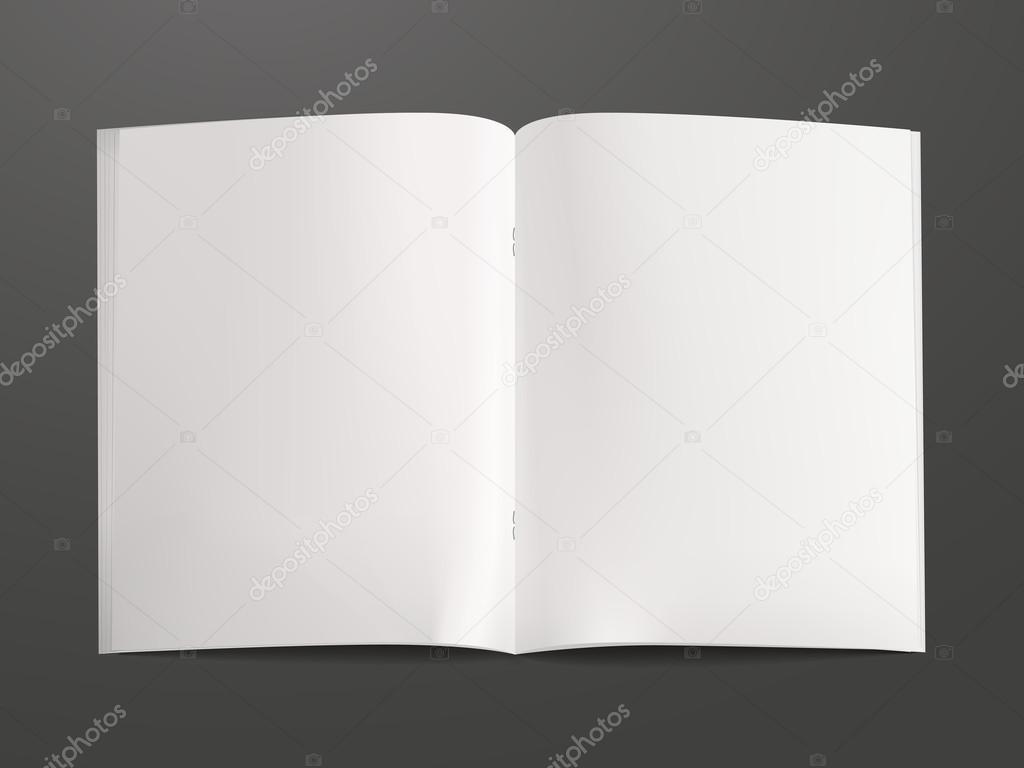leere offenes Buch Vorlage — Stockvektor © kchungtw #80503712