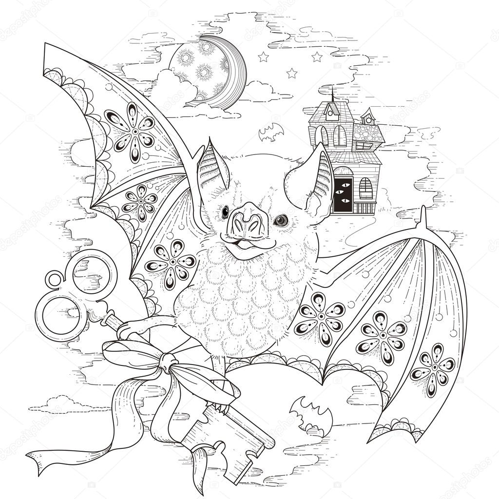 Página para colorear de palo bonito — Vector de stock © kchungtw ...