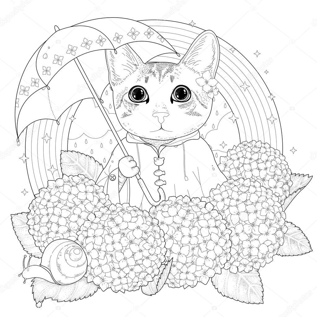 Kotek Kolorowanka Kolorowanki Koty Wektory Stockowe Kotki Kolorowanki Obrazy I Ilustracje Depositphotos