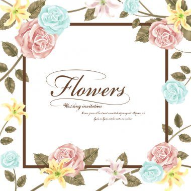 graceful floral wedding invitation