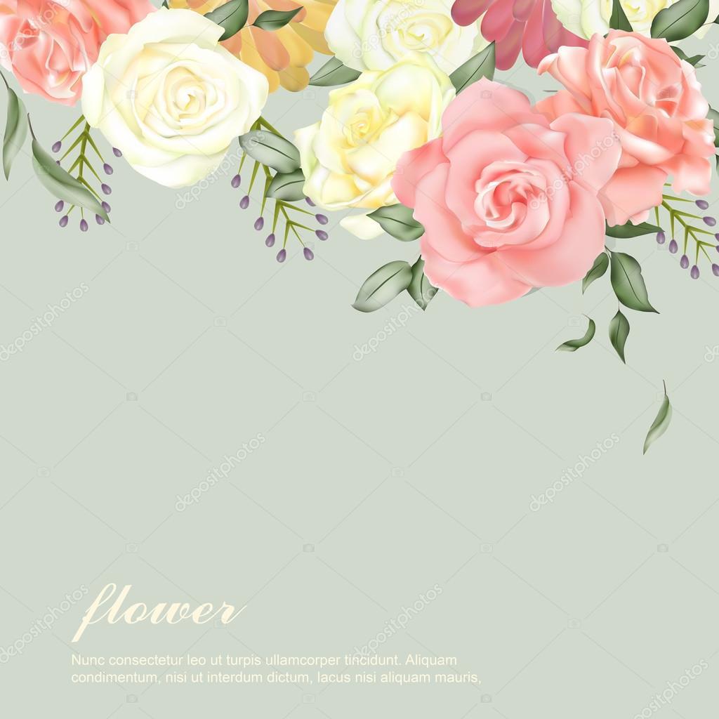 elegant flower backgro...