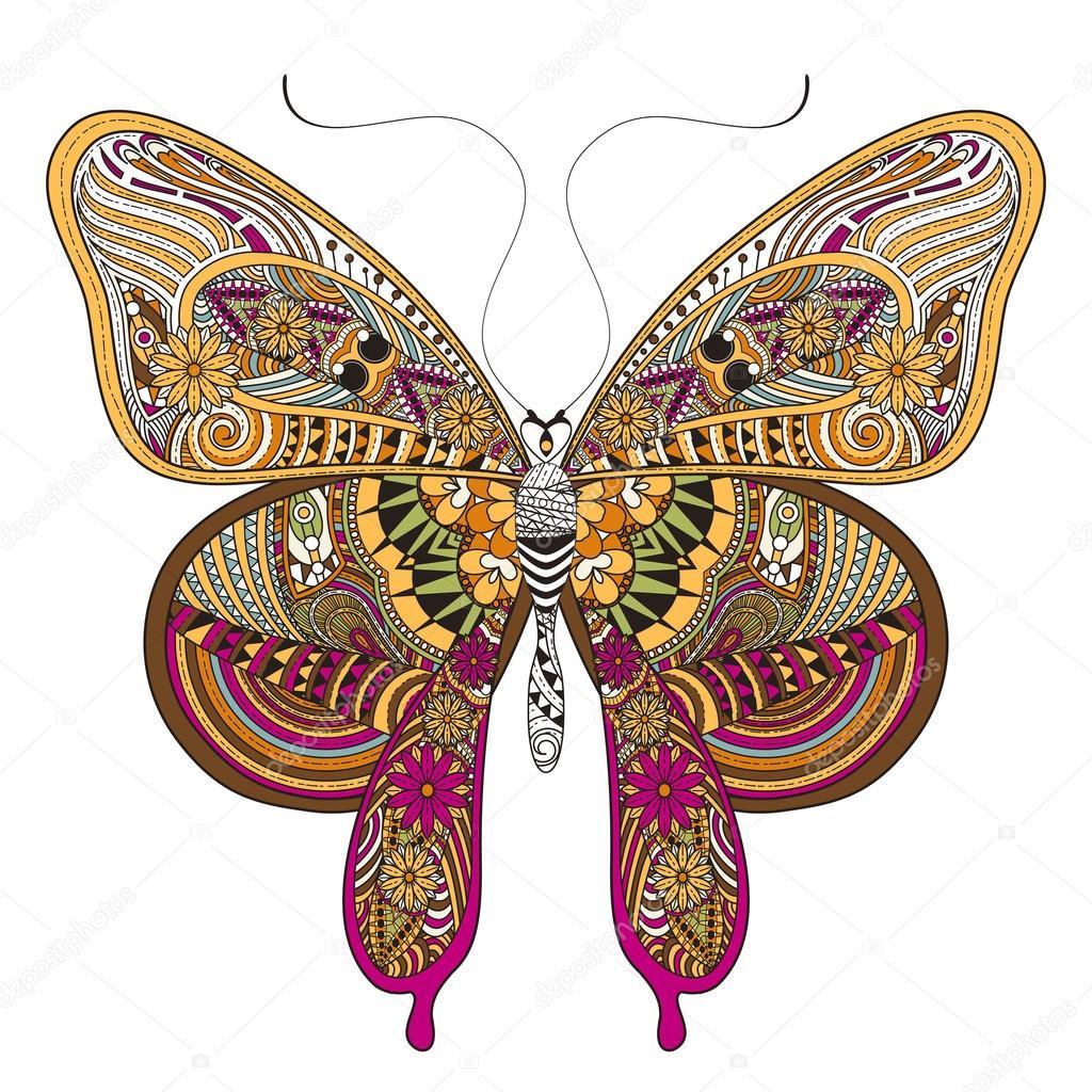 hermosa mariposa — Vector de stock © kchungtw #86001892