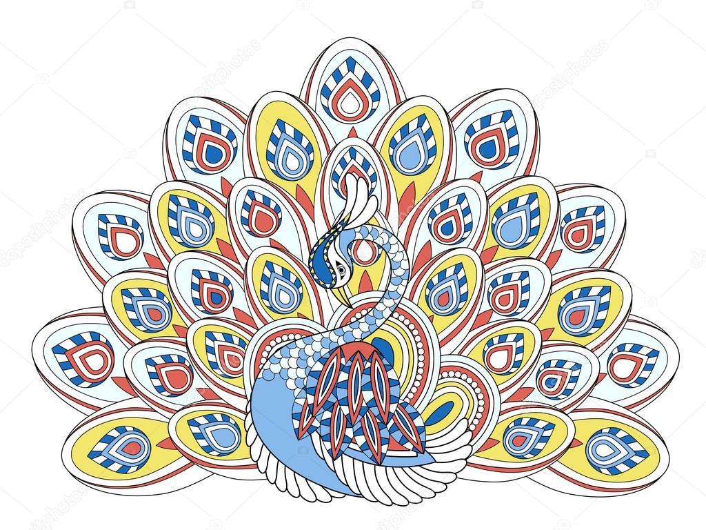 elegante pavo real — Archivo Imágenes Vectoriales © kchungtw #86002970