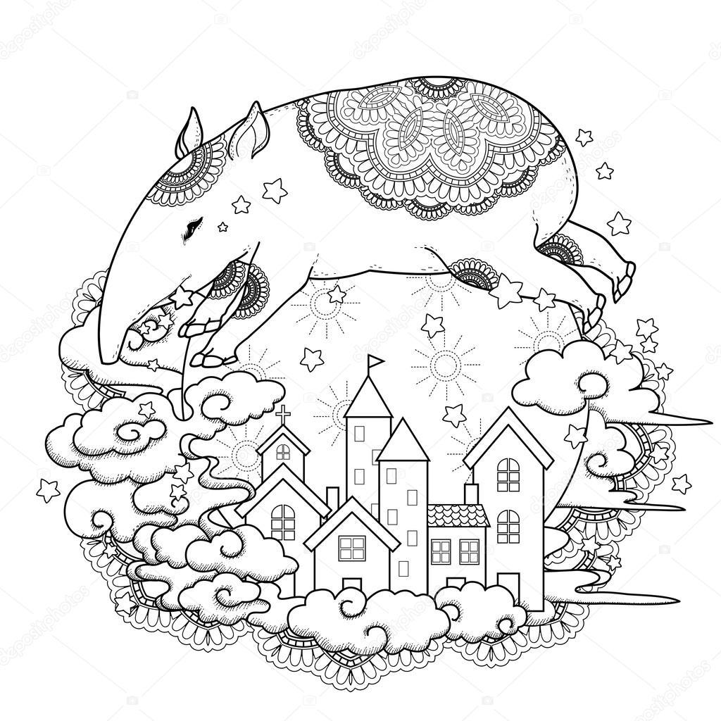 Coloriage Bebe Tapir.Tapir Adorable Image Vectorielle Kchungtw C 86003414