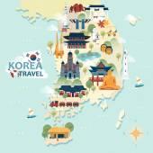 Photo South Korea travel map