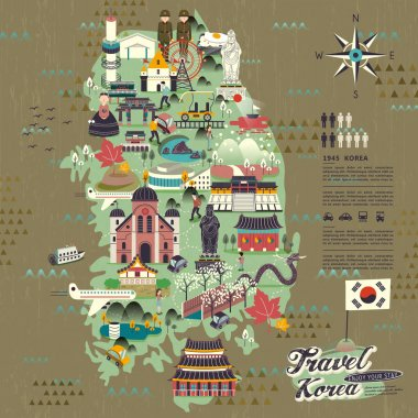 South Korea travel map
