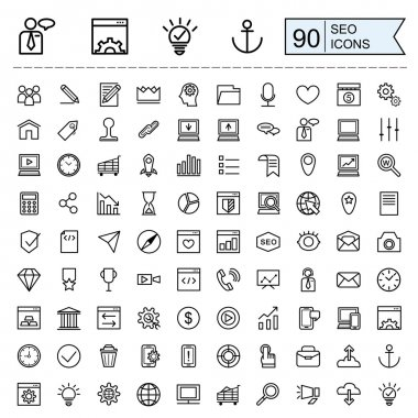 SEO icons collection