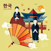 Photo traditional Korean poster