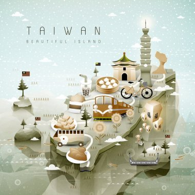 Taiwan attractions map