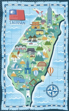Taiwan travel map