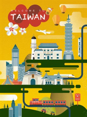 Taiwan travel poster design