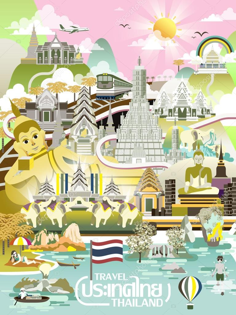Thailand travel concept poster