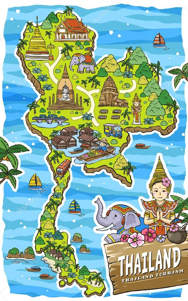 adorable Thailand travel map