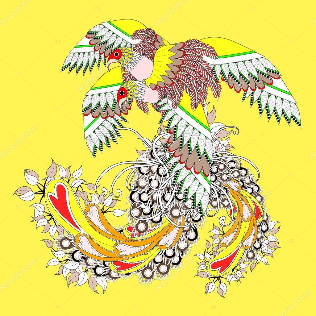 Güzel Uçan Kuş Boyama Sayfası Stok Vektör Kchungtw 95581256