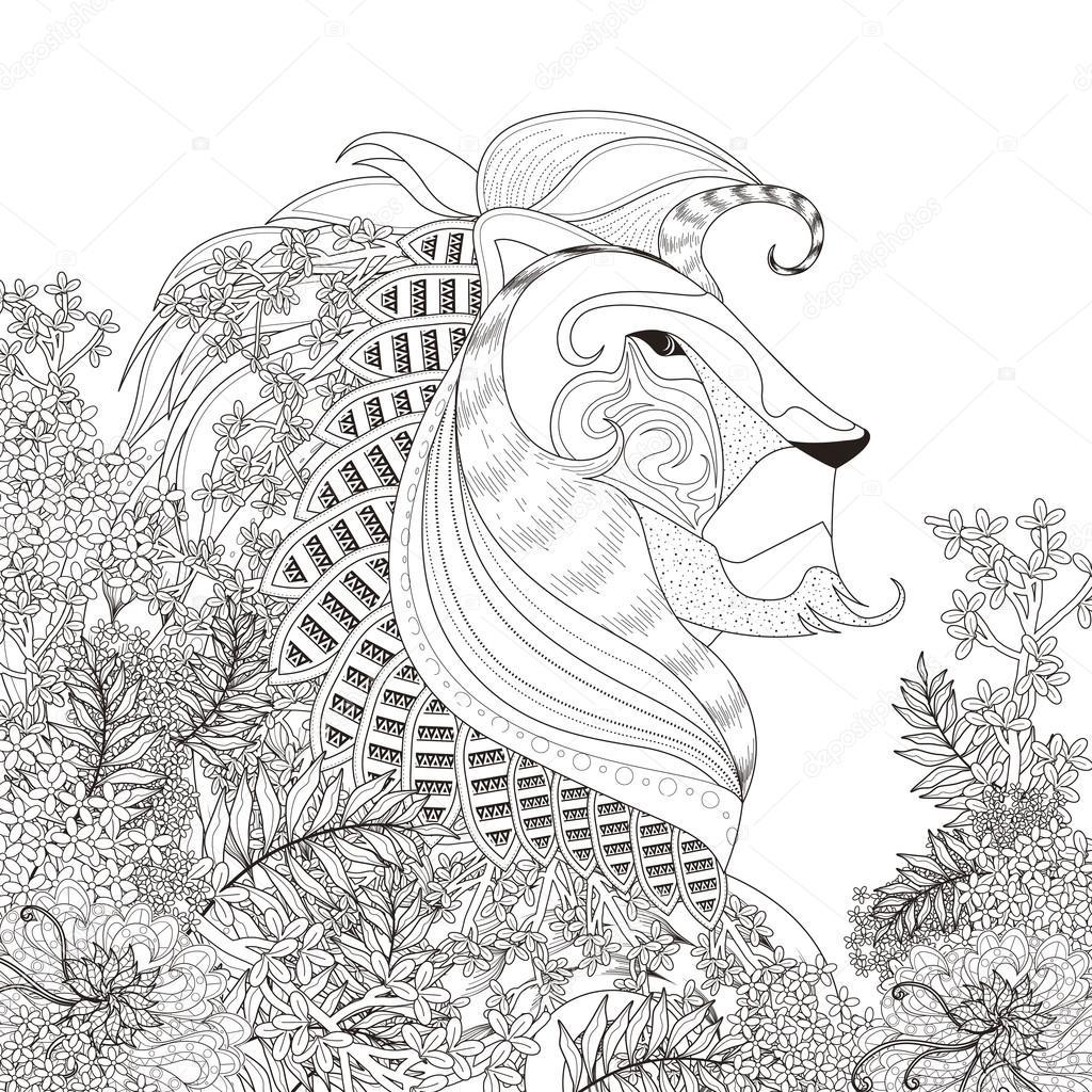 Kleurplaten Leeuw.Aantrekkelijke Leeuw Kleurplaat Stockvector C Kchungtw 95581550