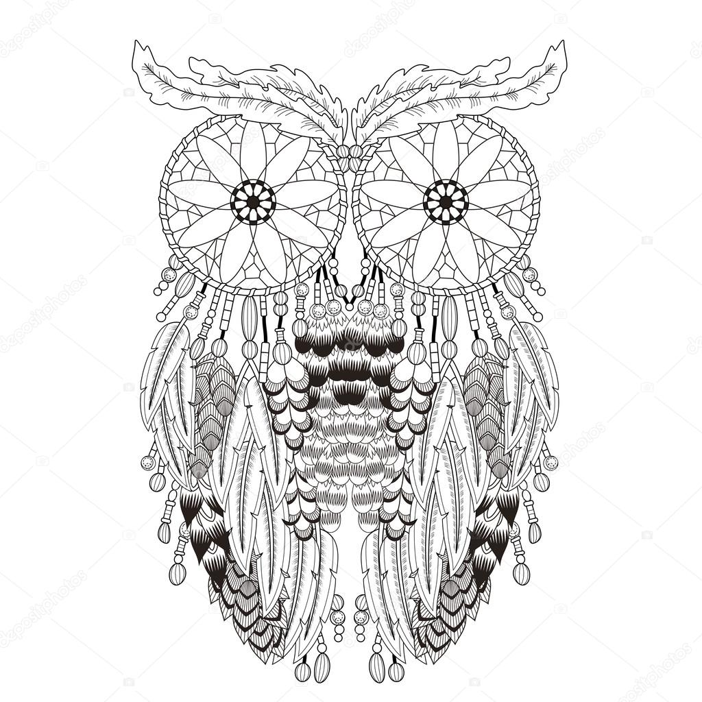 breathtaking owl coloring page u2014 stock vector kchungtw 95582852