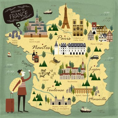 France travel concept map