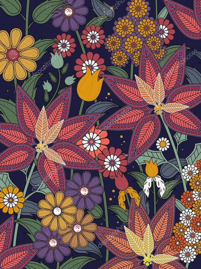 Página para colorear de flores tropicales — Archivo Imágenes ...
