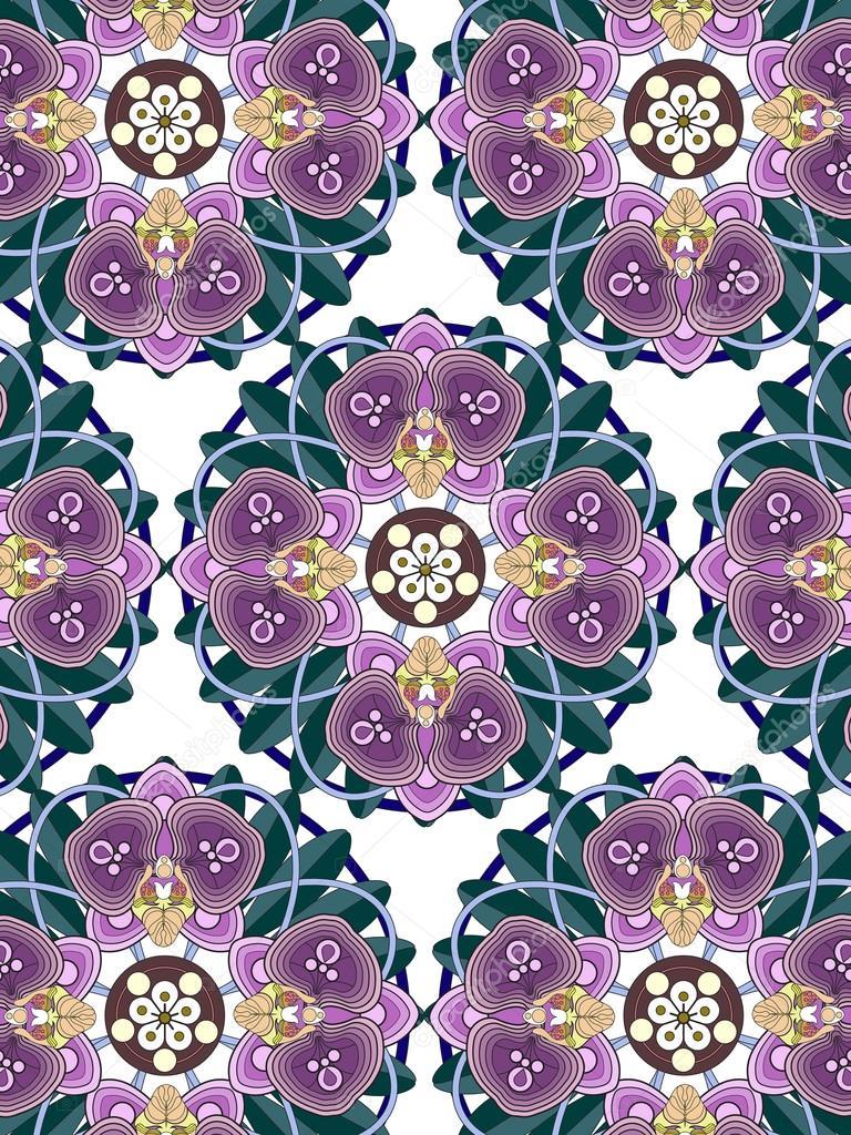 Página para colorear de flores orquídeas — Vector de stock ...