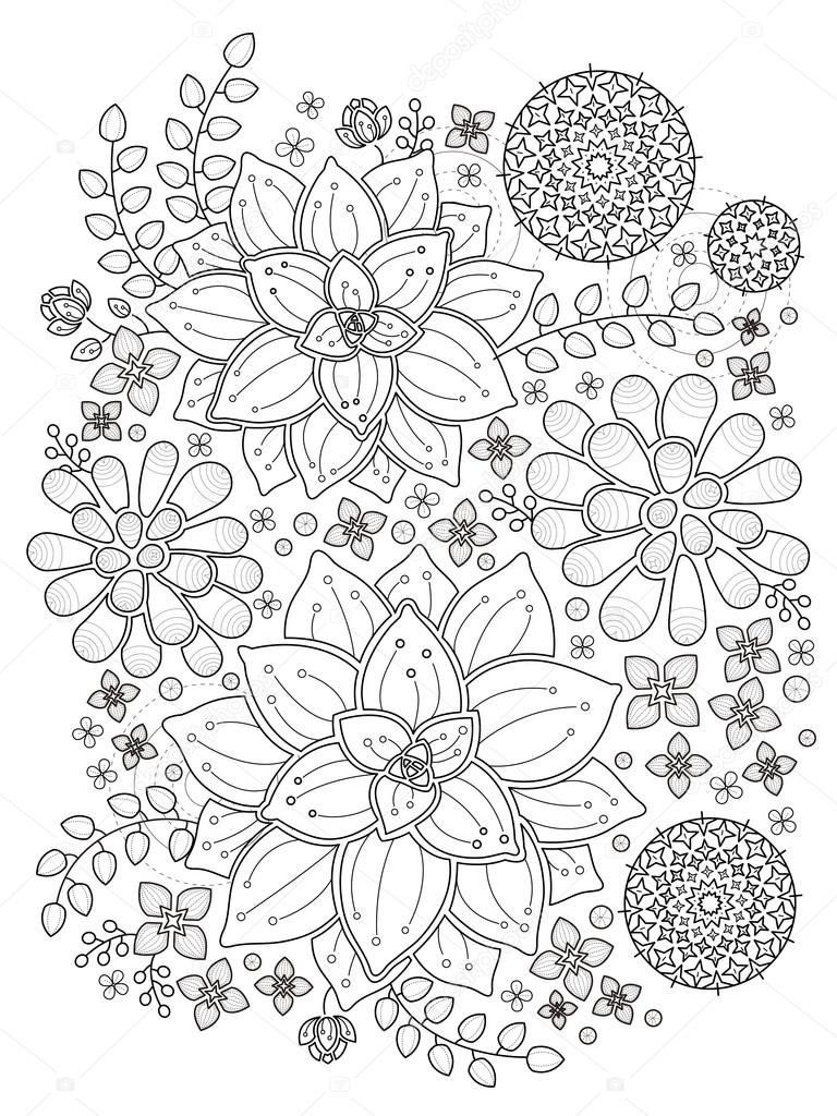 Página para colorear de plantas suculentas — Vector de stock ...