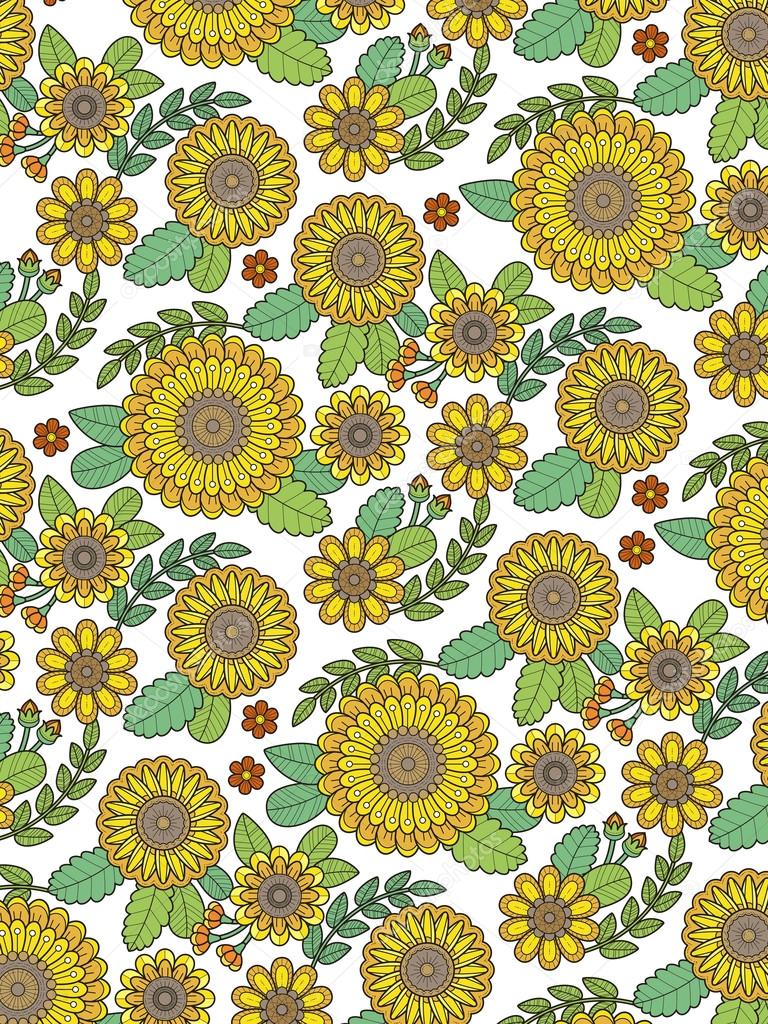 Kleurplaten Van Mooie Bloemen.Mooie Bloemen Kleurplaat Stockvector C Kchungtw 97930848