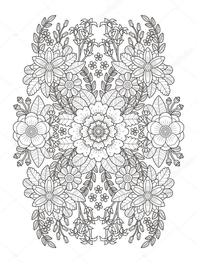 Bloeien De Bloemen Kleurplaat Stockvector C Kchungtw 97937474