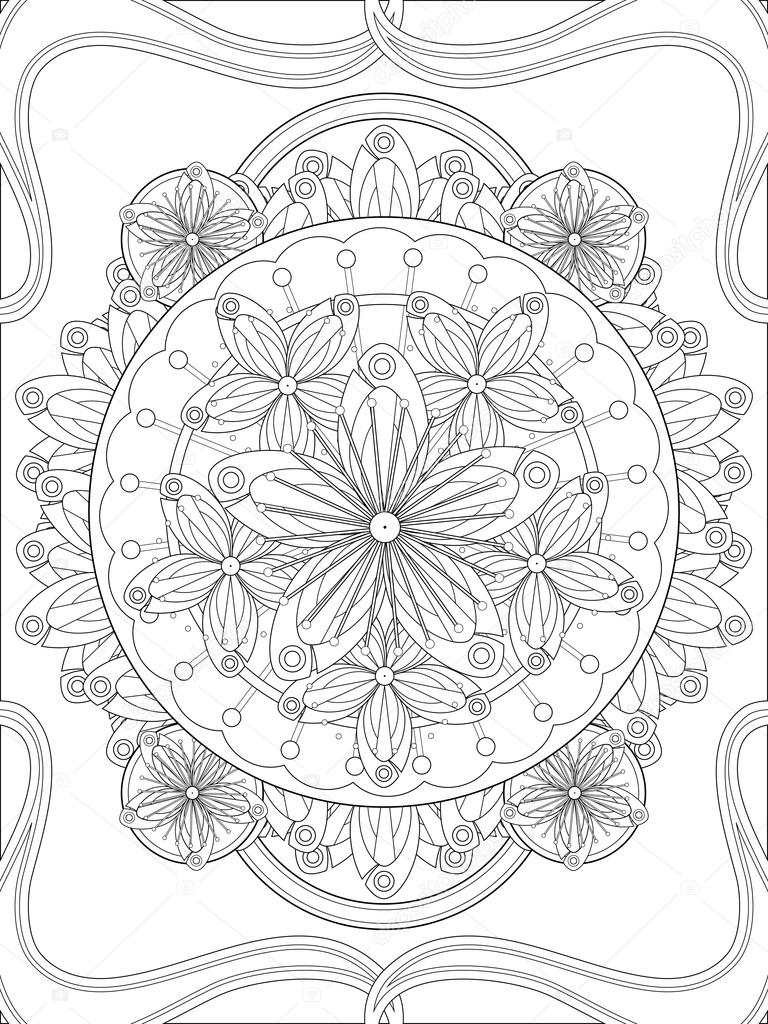 Erik çiçeği çiçek Boyama Sayfası Stok Vektör Kchungtw 97938918