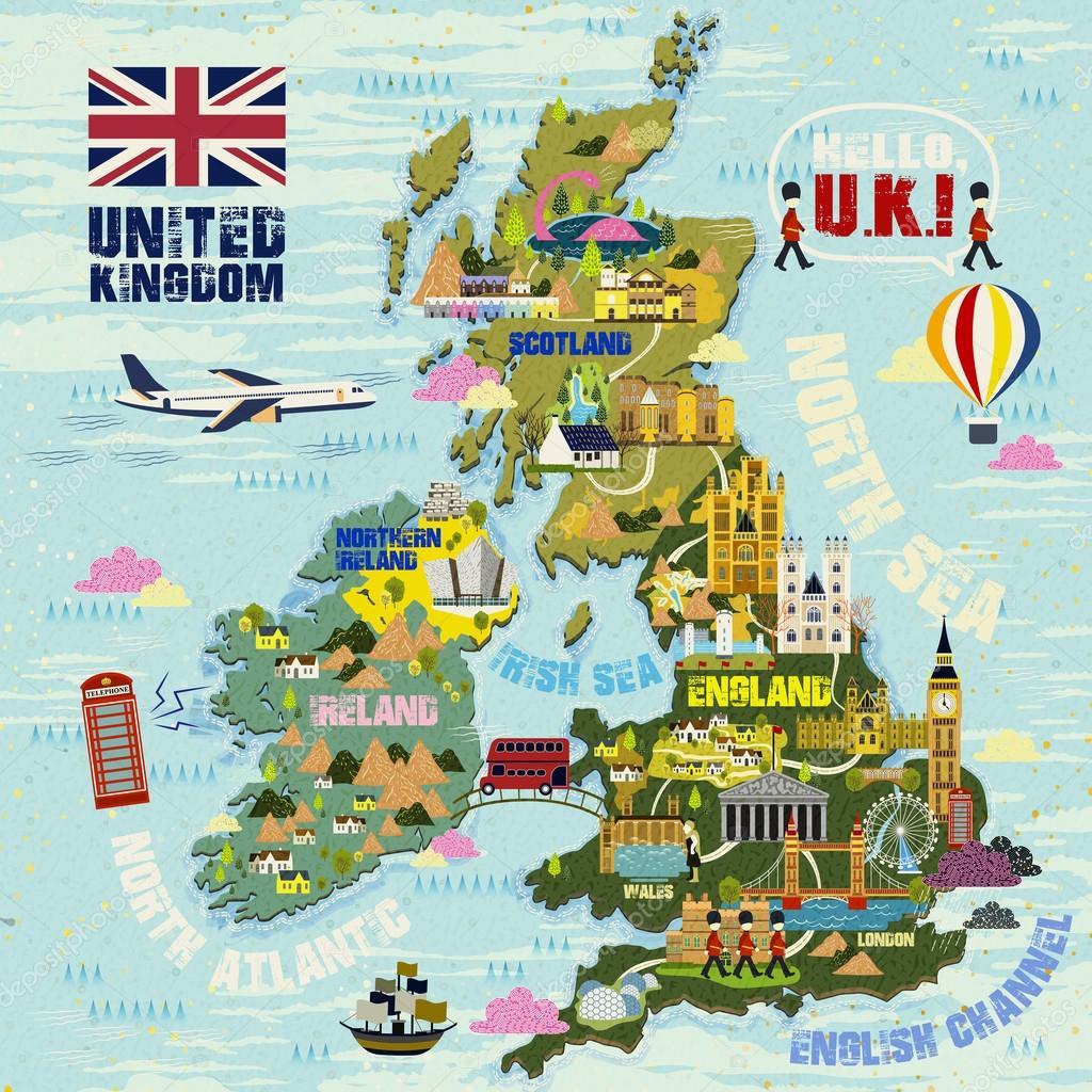 egyesült királyság térkép Egyesült Királyság utazik Térkép — Stock Vektor © kchungtw #99981036 egyesült királyság térkép