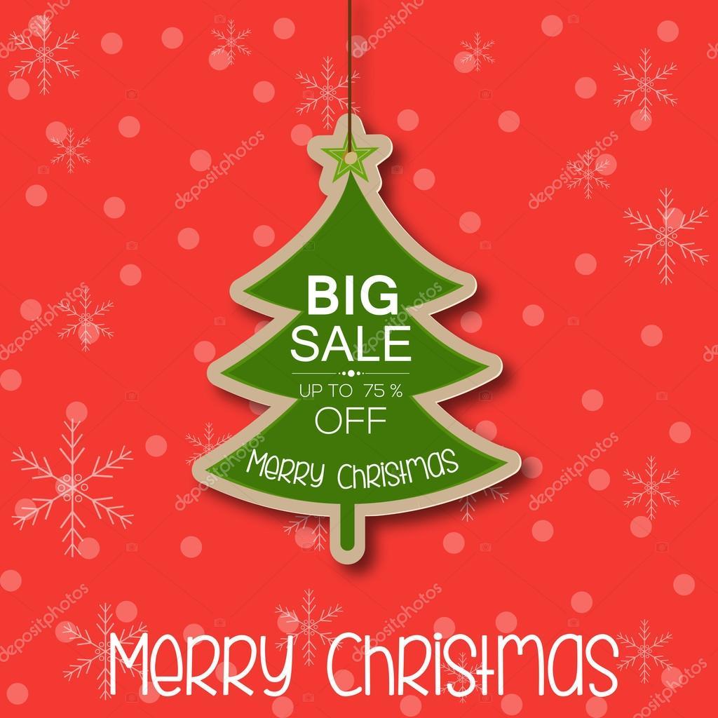 Christmas Tree shape Christmas dangler — Stock Vector © photomania ...