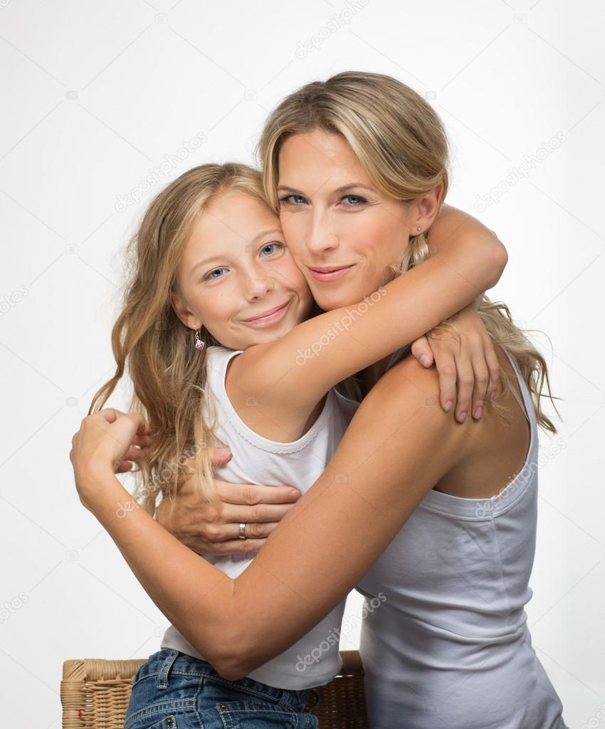 Nude mother daughters
