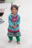 Koldus lány Leh, India