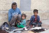 Szegény család Indiában Leh