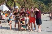 die Vollmondparty auf der Insel Koh Phangan. Thailand