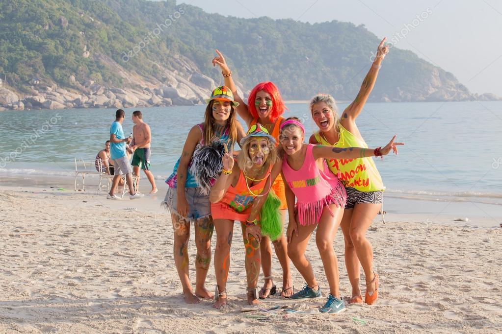 the Full Moon party on island Koh Phangan.  Thailand