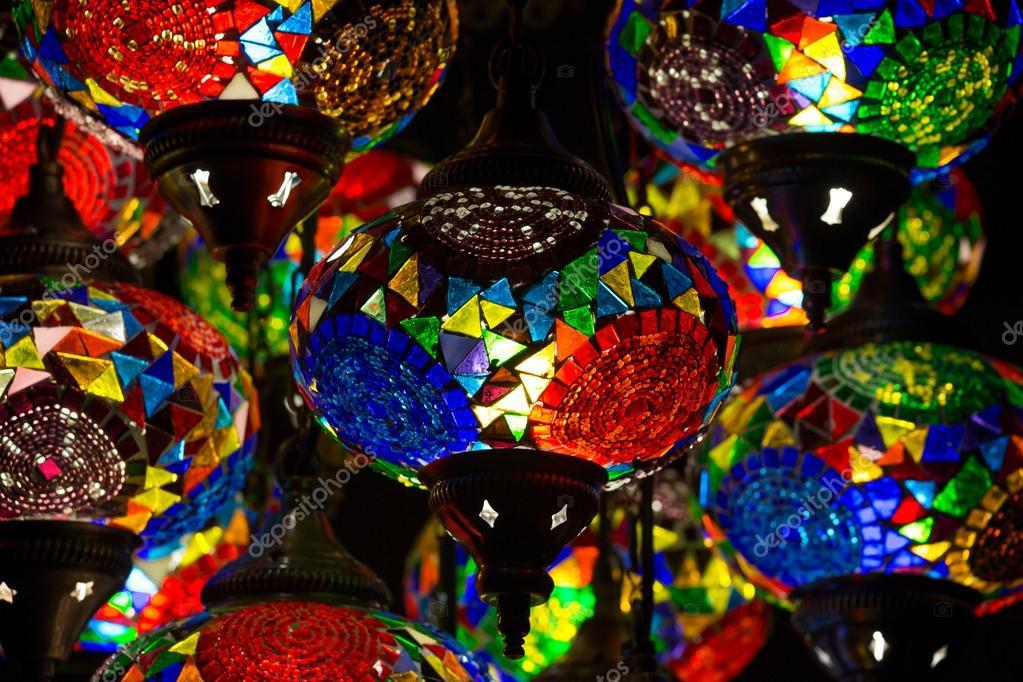 Decorative chandeliers in grand bazaar istanbul turkey stock decorative chandeliers in grand bazaar istanbul turkey stock photo aloadofball Image collections