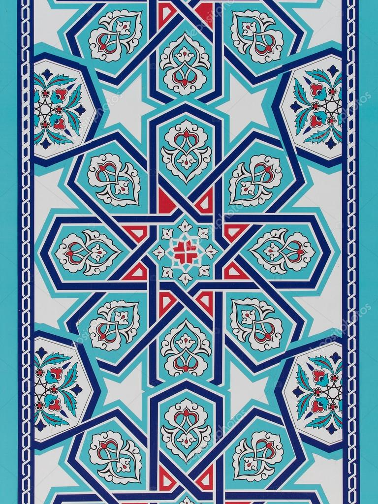 Handmade Turkish Blue Tiles on the wall in Istanbul City, Turkey ...