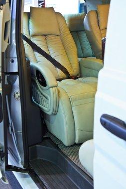 Car seats close up