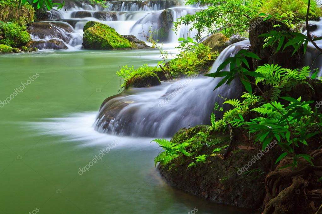 Thailand waterfall in park