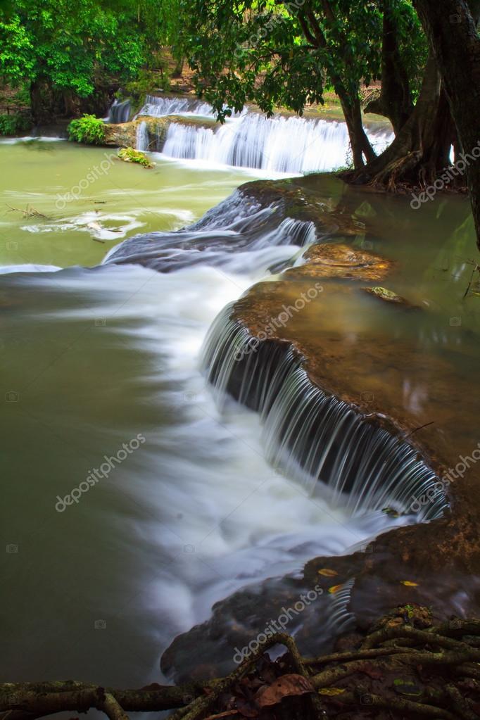 summer waterfall in Thailand park