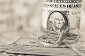 Fotografie Dolar bankovky pozadí