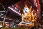 Fotografie Buddha in Ngahtatkyi Pagoda in Yangon