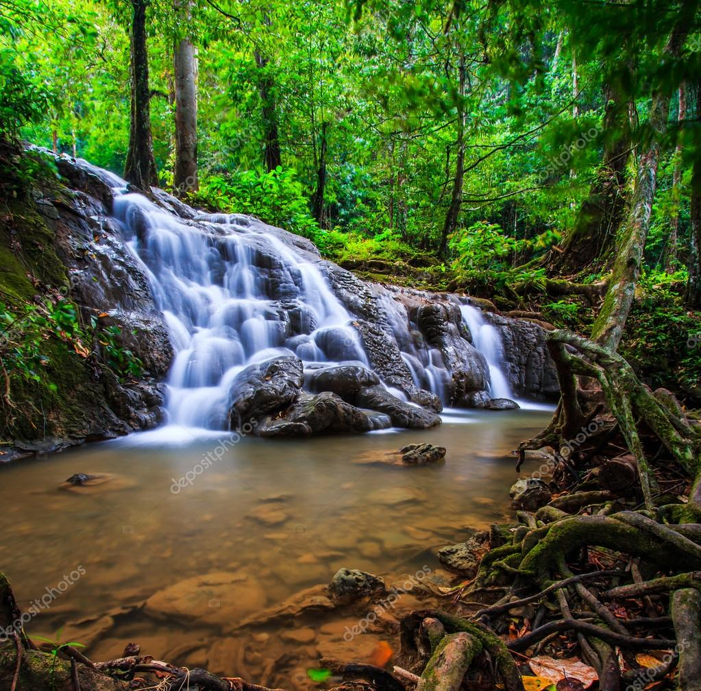 Waterfall and blue stream i